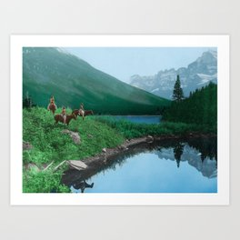 The Hunting Ground - Blackfoot American Indian Art Print