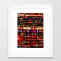 blankets Framed Art Prints featuring Handmade Blankets by rhamm