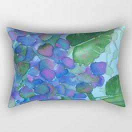 Cobalt Hydrangea Rectangular Pillow