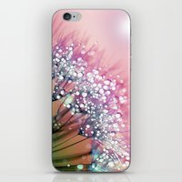 rainbow iPhone & iPod Skins featuring rainbow dandelion by Joke Vermeer