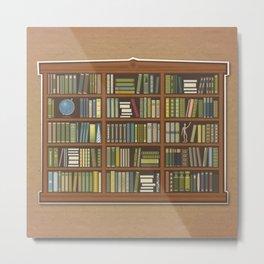 Grandmas bookshelf Metal Print