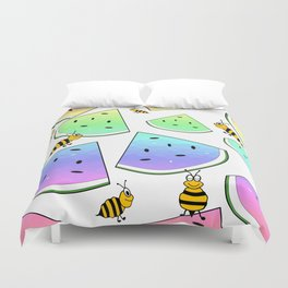 Uninvited Picnic Guests Duvet Cover