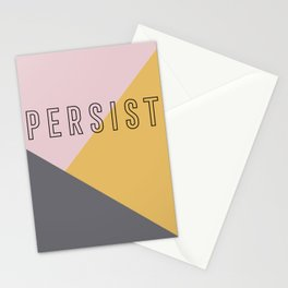 PERSIST - Bold and Modern Geometric Typography Stationery Cards