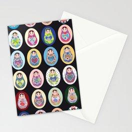 cute doll babushka matryoshka Stationery Cards