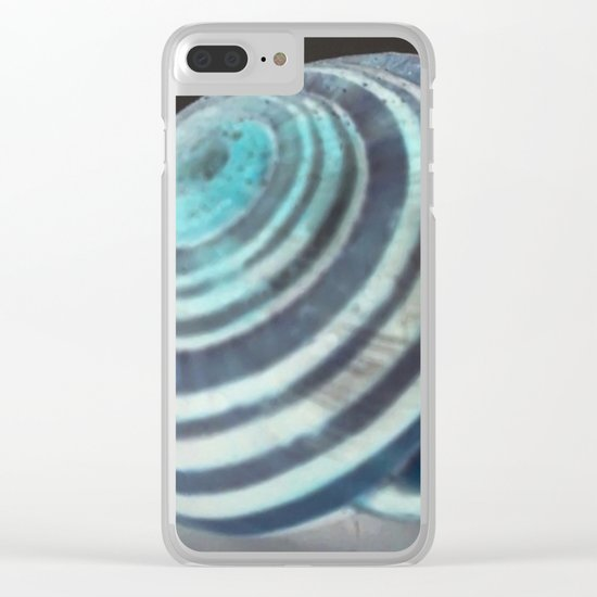 Glowing Snail Clear iPhone Case
