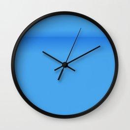 Blue Empty Room Wall Clock
