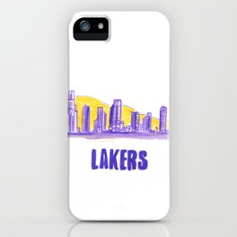 LAKERS HAND-DRAWING DESIGN iPhone Case
