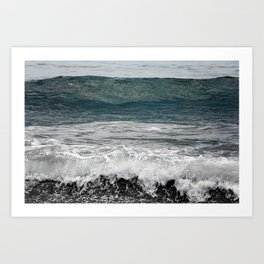 Wave you later Art Print