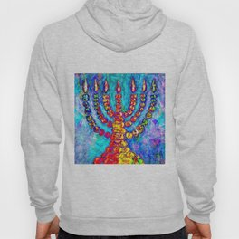 Temple Menorah Hoody