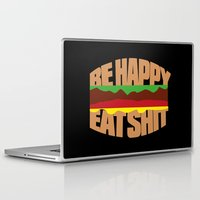 hamburger Laptop & iPad Skins featuring Hamburger by WAMTEES