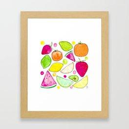 Juicy Fruits Framed Art Print