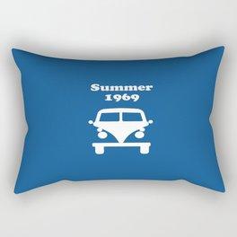 Summer 1969 - blue Rectangular Pillow