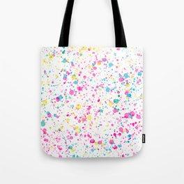 Spring Happy - Bright Color Paint Splatter Tote Bag