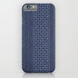 Thai Indigo Batik 3 iPhone Case