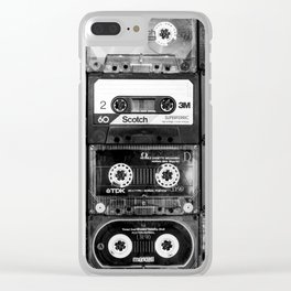 Something Nostalgic - black and white #decor #buyart #society6 Clear iPhone Case