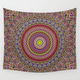 Magic Ornamental Garden Mandala Wall Tapestry