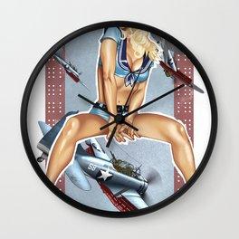 WWII Nose Art - Candyman Wall Clock