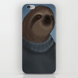 A sloth and his turtleneck iPhone Skin