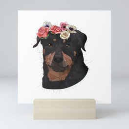 Merit the Rottweiler Mini Art Print