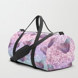Pastel Unicorn Butterfly Glitter Dream #1 #shiny #decor #art #society6 Duffle Bag