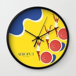 """EX-JU poster """"AEROPUT"""" Wall Clock"""