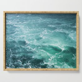 Sea Waves | Seascape photography Serving Tray