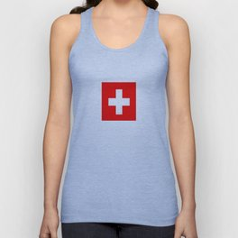 flag of Switzerland Unisex Tank Top