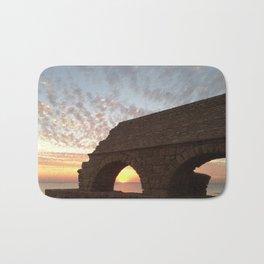 Roman Aqueduct at Sunset Bath Mat