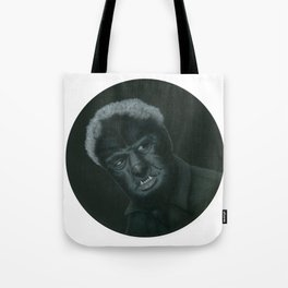 The Wolf Man on vinyl record print Tote Bag