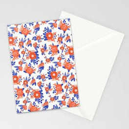 Florida floral orange and blue gators swamp varsity minimal university sports football fan Stationery Cards