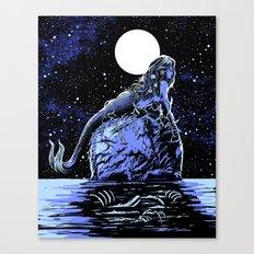 Mermaid Skull Canvas Print