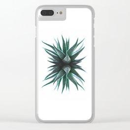 Minimal Cactus Clear iPhone Case
