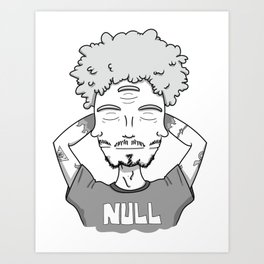 When the third eye is closed too, you are null. Art Print