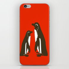 Animals Illustration - Penguins iPhone & iPod Skin