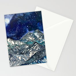 Elks and Bells Stationery Cards