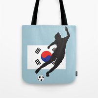 korea Tote Bags featuring Korea Republic - WWC by Alrkeaton