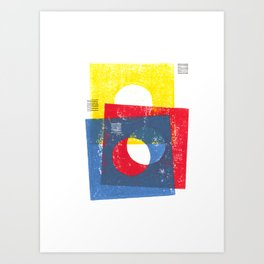 Basic in red, yellow and blue Art Print