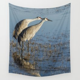 Craning x 2 Wall Tapestry
