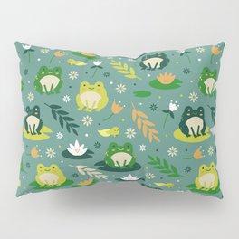 Cute little frogs pond pattern Pillow Sham