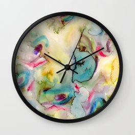 green absstract Wall Clock