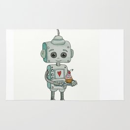 The feeling when your cute little robot brings you a cupcake in the morning :) Rug