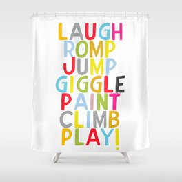 Jump Giggle Play! Shower Curtain