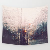 dc Wall Tapestries featuring DC Rain by elle moss