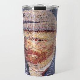 Vincent van Gogh's Self-Portrait with Felt Hat Travel Mug