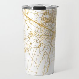 SIEM REAP CAMBODIA CITY STREET MAP ART Travel Mug