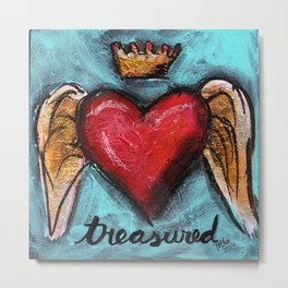 Crowned Heart -  Treasured Metal Print