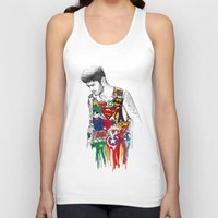 superhero Tank Tops featuring Zayn Superhero  by Coconut Wishes