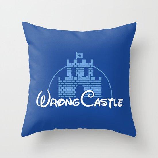 Wrong Castle Throw Pillow