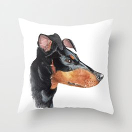 Manchester Terrier 'Sega' Throw Pillow