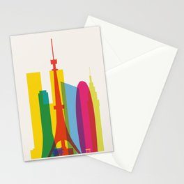 Shapes of Tokyo. Accurate to scale. Stationery Cards